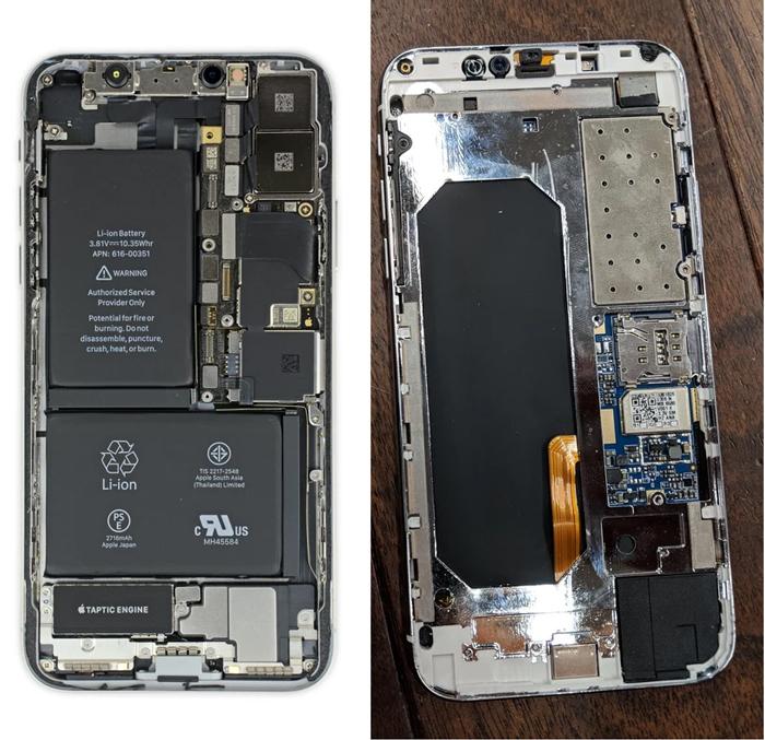 Копия iPhone X - внутри