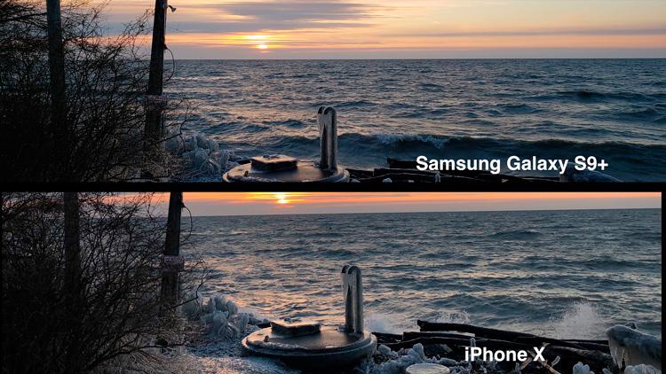 Фото на Galaxy S9 Plus и iPhone X