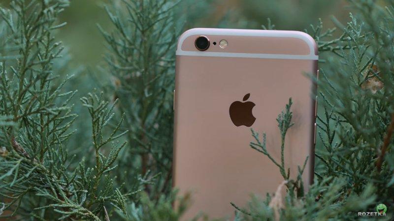 Розовый Айфон 6s на фото