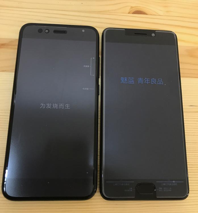 Meizu M6 Note vs Xiaomi Mi 5X - вид спереди