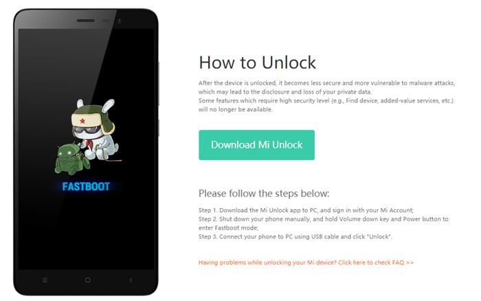 Xiaomi Mi Unlock
